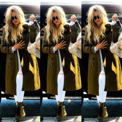 Kloe Kardashian fall coat